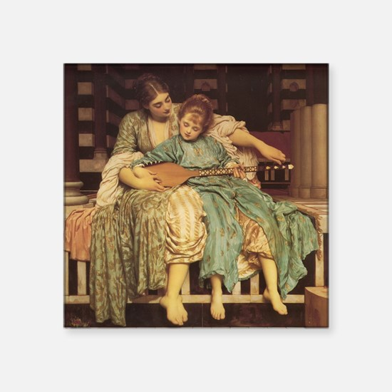 """Music Lesson, 1884 painting Square Sticker 3"""" x 3"""""""
