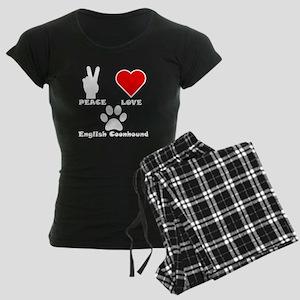 Peace Love English Coonhound Pajamas