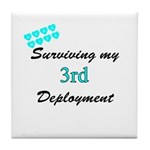 USCG Wife Surviving 3rd Deployment Tile Coaster