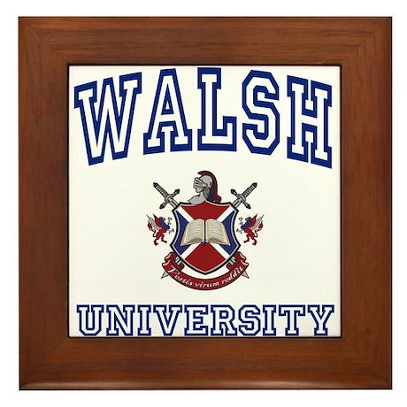 WALSH University Framed Tile