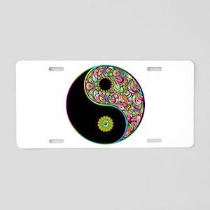 Yin Yang Symbol Psychedelic Colors Aluminum Licens