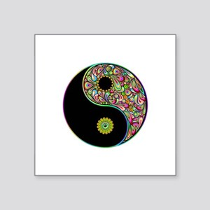 Yin Yang Symbol Psychedelic Colors Sticker