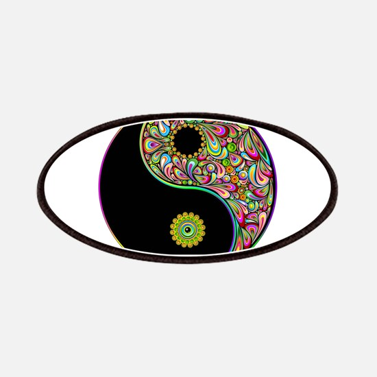 Yin Yang Symbol Psychedelic Colors Patches