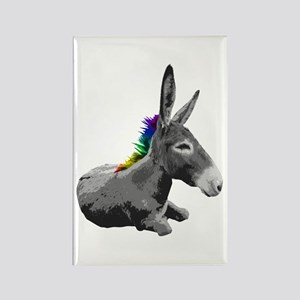 Rainbow Democrat Rectangle Magnet