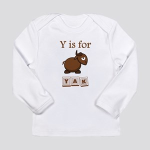 Y Is For Yak Long Sleeve T-Shirt