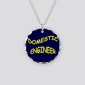 Domestic Engineer Necklace Circle Charm