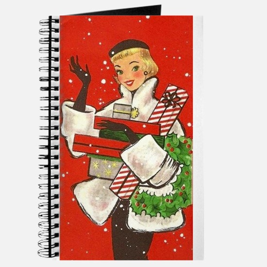 Vintage lady shoppping Journal
