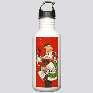 Vintage lady shoppping Water Bottle