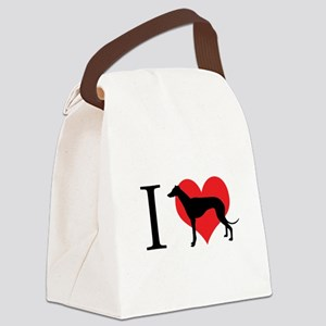 I Love Galgos Canvas Lunch Bag