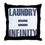 Laundry = Infinity Throw Pillow