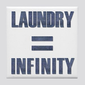 Laundry = Infinity Tile Coaster