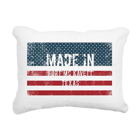 Made in Fort Mc Kavett, Rectangular Canvas Pillow