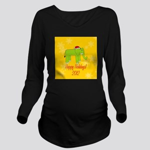 Elephant Holiday Long Sleeve Maternity T-Shirt