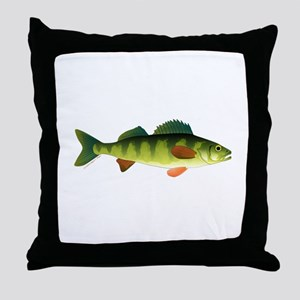 Yellow perch 2 Throw Pillow