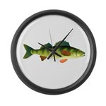 Yellow perch 2 Large Wall Clock