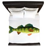 Yellow perch 2 King Duvet