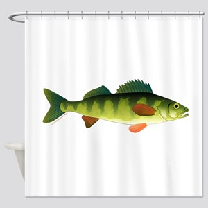 Yellow perch 2 Shower Curtain