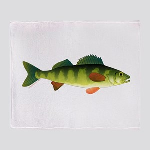 Yellow perch 2 Throw Blanket