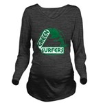 Green Surfers 10 Long Sleeve Maternity T-Shirt