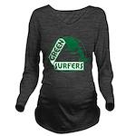 Green Surfers 10 Long Sleeve Maternity T-Shirt