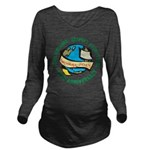 Earth Day Long Sleeve Maternity T-Shirt