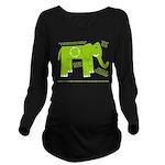 Elephant Long Sleeve Maternity T-Shirt