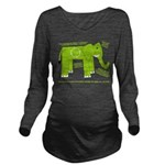 Elephant Long Sleeve Maternity T-Shirt