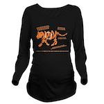 Tiger Facts Long Sleeve Maternity T-Shirt