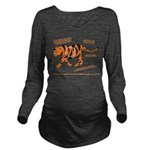 Tiger Facts Long Sleeve Maternity T-Shirt