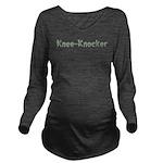 Knee-Knocker Long Sleeve Maternity T-Shirt
