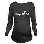 Grape Cat Long Sleeve Maternity T-Shirt