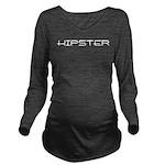 Hipster10x8 Long Sleeve Maternity T-Shirt