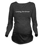 LickingtheChops10x8 Long Sleeve Maternity T-Sh