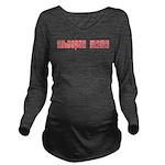 Whoopie Mama Black T-Shirt Long Sleeve Maternity T
