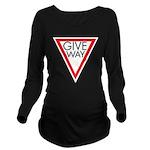 Give Way 10 Long Sleeve Maternity T-Shirt