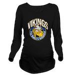Vikings Logo Long Sleeve Maternity T-Shirt