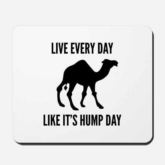 Live Every Day Like It's Hump Day Mousepad