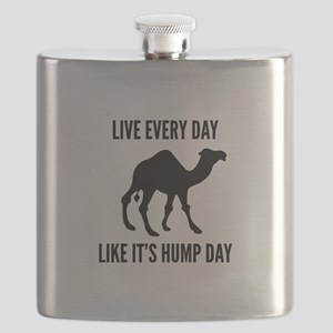 Live Every Day Like It's Hump Day Flask