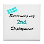 USCG Wife Surviving 2nd Deployment Tile Coaster