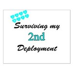 USCG Wife Surviving 2nd Deployment Small Poster