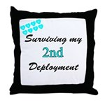USCG Wife Surviving 2nd Deployment  Throw Pillow