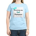 USCG Wife Surviving 2nd Deployment Women's Pink T