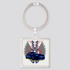 Charger Square Keychain