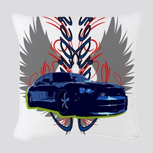 Charger Woven Throw Pillow