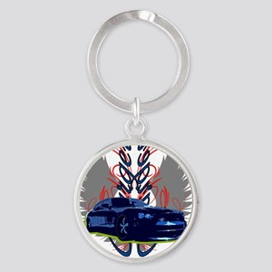 Charger Round Keychain