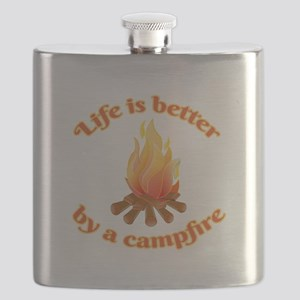 Life Is Better By A Campfire Flask