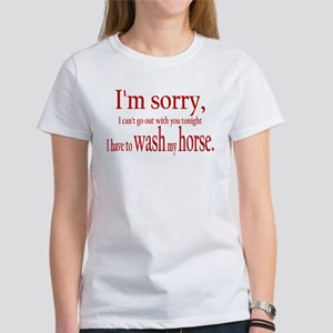 Washing my Horse Women's T-Shirt