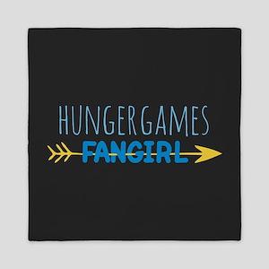 Hunger Games Fangirl Blue Queen Duvet