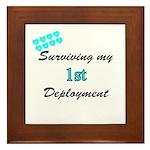 USCG Wife Surviving 1st Deployment Framed Tile