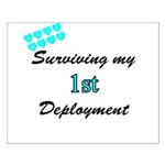 USCG Wife Surviving 1st Deployment Small Poster
